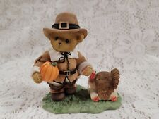 2009 Cherished Teddies William 4013422 Thanksgiving Be Thankful In All Things