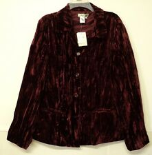 NEW size 2X Coldwater Creek velvet crinkle JACKET