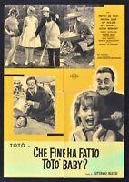 Manifesto Che Fine Ha Hecho Toto' Baby Ottavio Alessi De Martino Holzer B S14