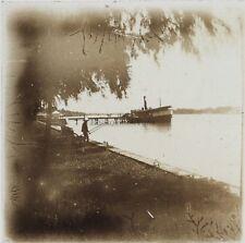 Asie Indo Chine Photo Plaque de verre Stereo L10 Vintage ca 1910