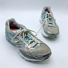 Saucony Hurricane 14 Women Silver Blue Running Shoe Size 9.5M Pre Owned