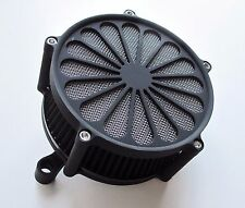 BLACK PRO FORCE AIR CLEANER, FOR 1991-2015 SPORTSTER 883 1200 XL HARLEY