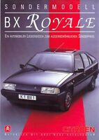 Citroen BX Royale Special Edition German Market sales brochure
