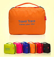 Ladies Mens Wash Bag Travel Toilet Bag Hanging Toiletries Makeup Bag Zipper