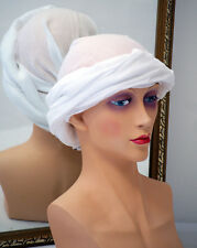 MEDIEVAL/Sca/LARP/Role Playing/Re Enactment MUSLIN LADIES HEADDRESS 1 size