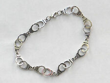 """BDSM KINK Handcuff Anklet by Slave Violet Jewelry. 9"""" SHIPS FROM THE US."""