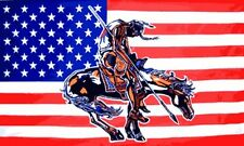 End of the Trail US Flag 3x5 ft USA United States America Indian Native American