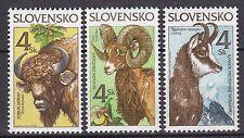 SLOVAKIA 1996  MNH** SC#  249 - 251 The Animals - Nature protection