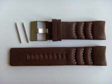 Diesel original LW pulsera de cuero dz4037 uhrband marrón watch Strap Brown