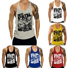 Men's Gym Regata Colete Musculação Muscle Esportes Fitness Sem Mangas T Shirts