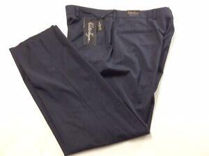 Walter Hagen Men's Plain Front Micro Check Golf Pants NEW Dusky Blue 36w 31U