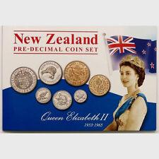 NEW ZEALAND 1953-1965 QEII PRE-DECIMAL COIN SET!!! RARE
