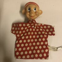 Vtg Walt Disney Gund Dopey Snow White and the Seven Dwarfs Hand Puppet 50s