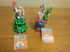 Porcelain Jim Henson Midwest Dr Suess Cat In Hat And The Grinch Trinket Box!