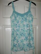BNWOT LADIES SIZE 12 MARKS AND SPENCER CAMI COTTON TOP - PRETTY