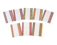 25x Indian Shagun Gift Envelopes Mini Colourful Border Diwali Money Cash Wallets