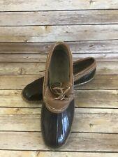 Vintage Sorel Duck Boots Size 8 Womens Brown Rubber Ankle Slip On VTG Slides