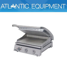 Roband Grill Station Smooth Plates 8 Sandwich Commercial Café Bistro GSA810S