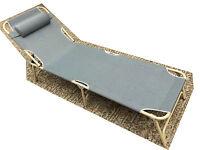 Textoline Folding Bed Sunlounger Garden Lounger Recliner Sun Bed Folding Relaxer