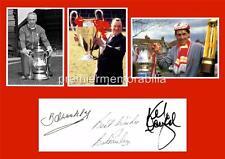 LIVERPOOL FC LEGENDS BILL SHANKLY BOB PAISLEY KENNY DALGLISH
