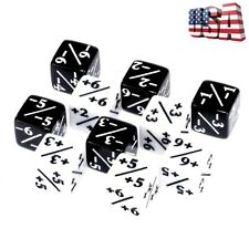 10Pcs Dice Counters 5 Positive +1/+1 & 5 Negative -1/-1 For Magic: The Gathering