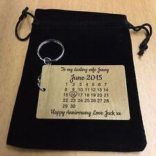 Personalised Anniversary Wedding Valentines  Calendar Keyring