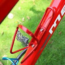 "2.75"" Diameter Anodized Shiny Red Metal Alloy Bottle Cage Water Bottle Bike Cage"