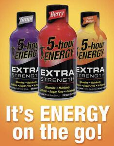 24 Mix Flavors Of 5 hr Energy Extra Strength Shots Bundle Exp 2022-23 (24 Shots)