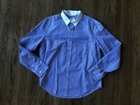 Band of Outsiders Contrast Collar Striped Shirt XXL 2XL Blue