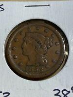 1853 US Braided Hair Large Cent!!