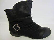 Ladies Spot on Casual Ankle BOOTS F50337 K Black 6 UK Standard
