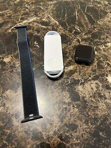 Apple Watch SE GPS Cellular 44mm Space Gray Case Black Sport Loop MYEU2LL/A