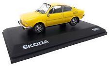 Abrex Metall Modellauto 1:43 Skoda 110 R Coupe Gelb 1980 Kunststoff Vitrine