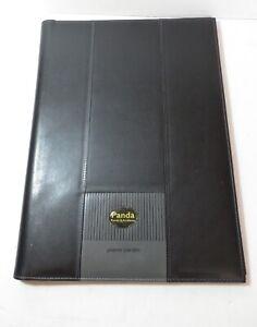 Pierre Cardin A4 Black Leather Fold Close Folder