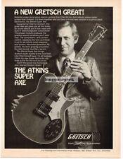 1977 Gretsch Atkins Super Axe Electric Guitar Chet Magazine Ad