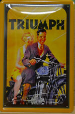 TRIUMPH MOTOR CYCLES MOTORRAD BIKE BLECHSCHILD 20 X 30 CM (813)