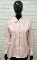 Camicia LANDS' END Donna Taglia Size M Maglia Shirt Woman Chemise Cotone a Righe