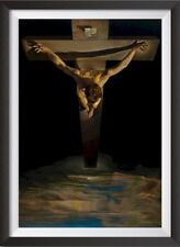 More details for salvador dali christ of st. john cross two print options or framed options new