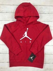 Air Jordan nike Boys hoodie, Red with white jumping man logo - mult size - 205