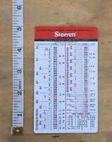 tap drill sizes 10 pack Starrett Machinist Pocket Charts Decimal//Metric cards