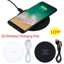 Qi Wireless Fast Charging Charger Pad For Samsung Galaxy S6 S7 S8 S9 S10 iPhone