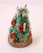 Vintage Christmas Decoration Bottle Brush Tree Mercury Ball Wreath Pipe Cleaner