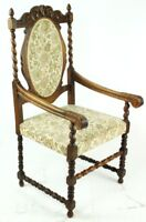 Antique Carved Oak Barley Twist Carver Chair - FREE Shipping [  PL3009 B ]