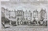 Étampes 1792 Rare Gravure Révolution Française Procession Maire d'Etampes Paris