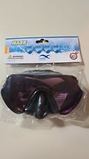 Adult Swimming Mask (black w/purple lens) for ages 14+, Brand New & Sealed