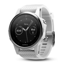 GARMIN fenix 5S Montre GPS Silver avec bracelet blanc Carrara 010-01685-00