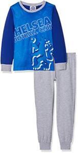 FC CHELSEA Junior Boys Kids Pyjamas 2PCS SET SLEEPWEAR Nightwear LongSleeve