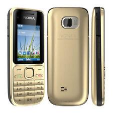 BNIB NOKIA C2-01 UNLOCKED BLUETOOTH 3.2 MP CAMERA 3G FM RADIO MOBILE PHONE GOLD