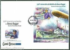 GUINEA BISSAU 100th ANN OF THE BATTLE OF DOGGER BANK WORLD WAR I S/S FDC