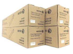 4 Original Toner XEROX Phaser 7500 7500Vn 7500Vdx 106R01439 -106R01436 Cartridge
